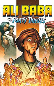 Ali Baba and the Forty Thieves by Antoine Galland book cover