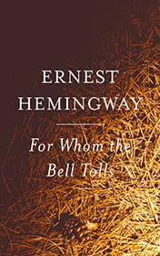 For Whom the Bell Tolls by Ernest Hemingway book cover