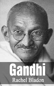 Gandhi by Rachel Bladon book cover