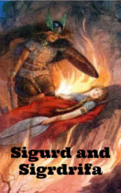 Sigurd and Sigrdrifa by Chris Rose book cover