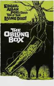 The Oblong Box by Edgar Allan Poe book cover